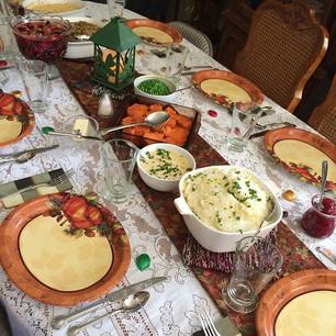 pretty thanksgiving spread at the Beeson house :) #gratitudetrek