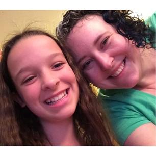 Leah and me :) #auntkristinesknittingschool