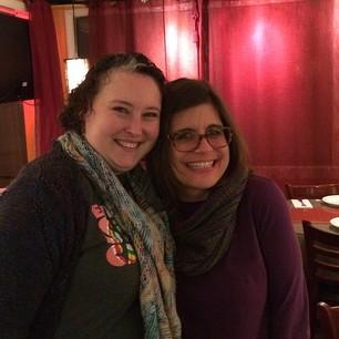 hurrah, I finally got to meet my friend @ericah64 ! we had a lovely dinner. :) #100happydays #day132