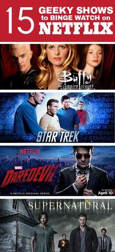15 Geeky Shows to Binge Watch On Netflix! via @unicornbeauty